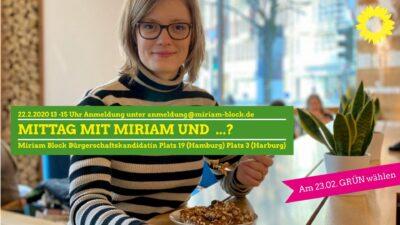 Mittag mit Miriam und...?