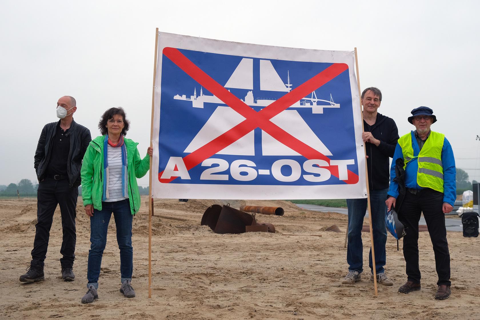 Demo gegen die A26 Ost