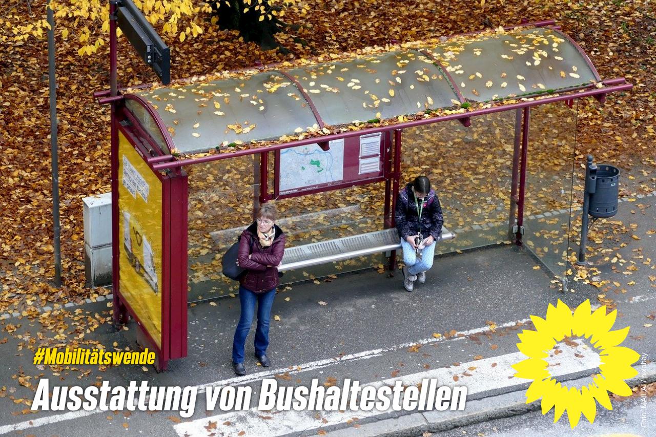 Ausstattung von Bushaltestellen